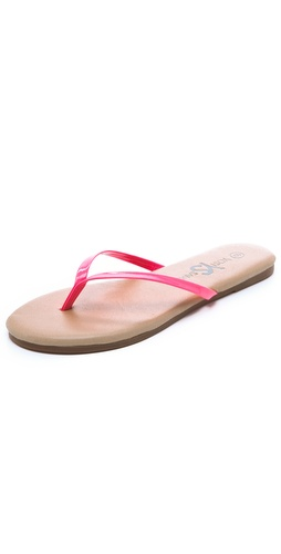 Yosi Samra Two Tone Flip Flops