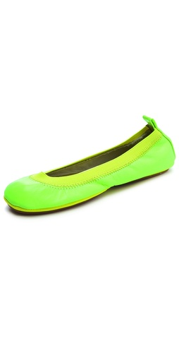 Yosi Samra Neon Elastic Ballet Flats