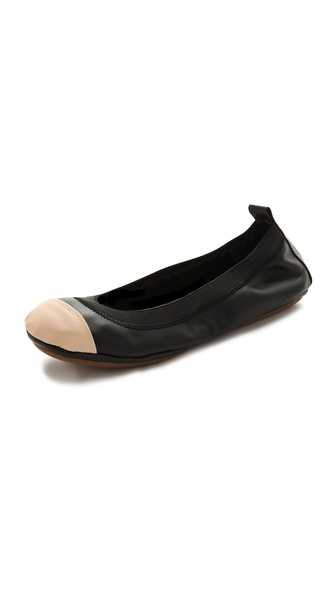 Yosi Samra Two Tone Cap Toe Ballet Flats