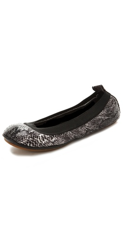 Shop Yosi Samra Snake Print Ballet Flats and Yosi Samra online - Footwear,Womens,Footwear,Flats, online Store