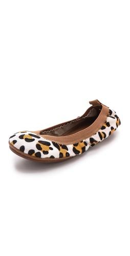 Yosi Samra Leopard Print Ballet Flats