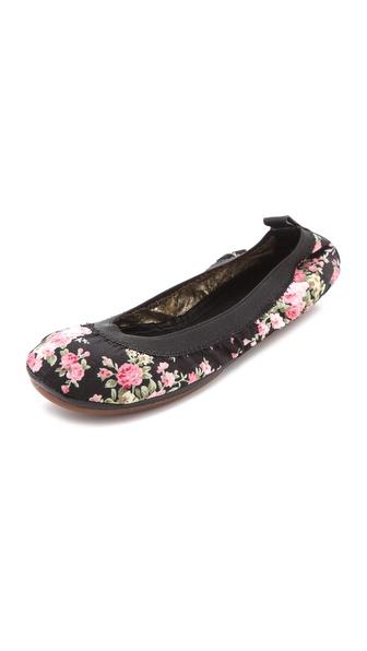 Yosi Samra Floral Print Ballet Flats