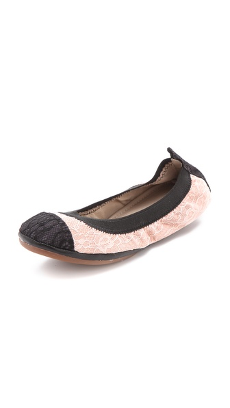 Yosi Samra Lace Cap Toe Ballet Flats