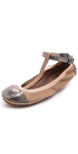 Yosi Samra T-Strap Ballet Flats