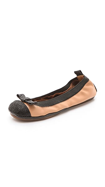 Yosi Samra Leather Ballet Flats