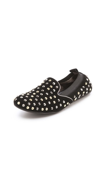 Yosi Samra Smoking Slippers with Studs
