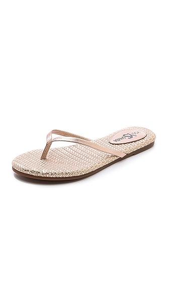 Yosi Samra Roee Metallic Flip Flops