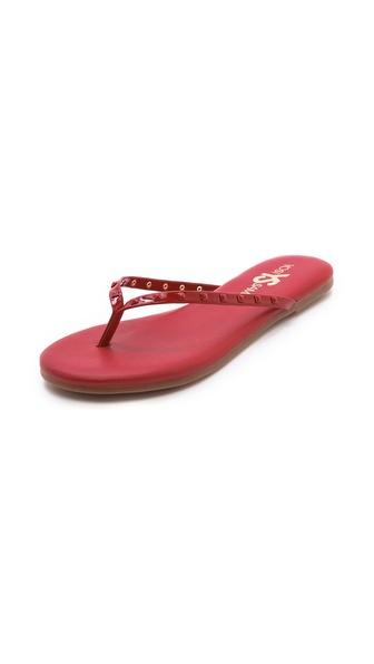 Yosi Samra Roee Studded Flip Flops