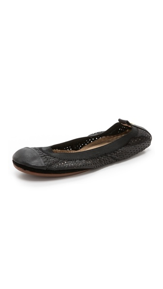 Yosi Samra Samantha Perforated Ballet Flats