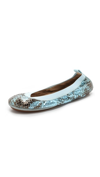 Shop Yosi Samra online and buy Yosi Samra Samara Metallic Ballet Flats Clearwater - Packable Yosi Samra ballet flats rendered in snake print metallic leather. Patent trim accents the heel cap. Soft elastic top line and split rubber sole. Imported, China. This item cannot be gift boxed. Available sizes: 5,6,7,8,9,10,11