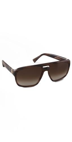 Yves Saint Laurent Plastic Aviator Sunglasses