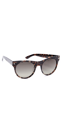 Yves Saint Laurent Oversized Preppy Round Sunglasses