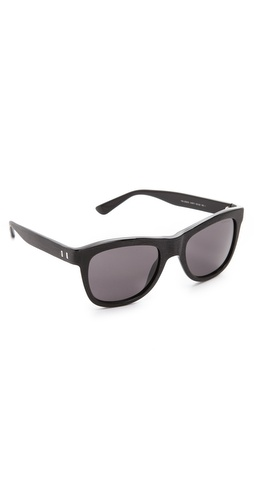 Yves Saint Laurent Distressed Square Sunglasses