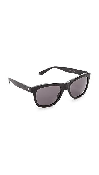 Saint Laurent Distressed Square Sunglasses