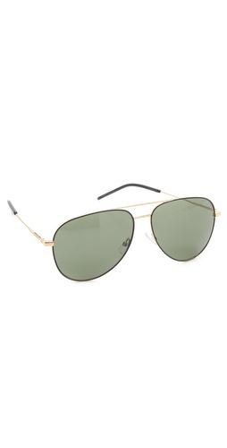 Yves Saint Laurent Classic Metal Aviator Sunglasses