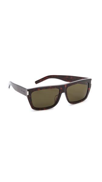 Saint Laurent Special Fit Flat Top Sunglasses