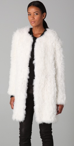Yves Salomon Lamb Coat