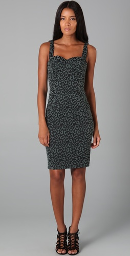 Zac Posen Leopard Bustier Dress