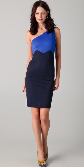 Zac Posen One Shoulder Dress
