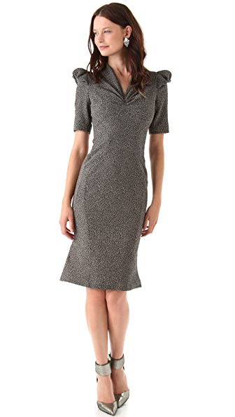 Zac Posen Stretch Tweed Dress