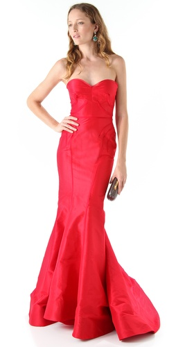 Zac Posen Strapless Gown