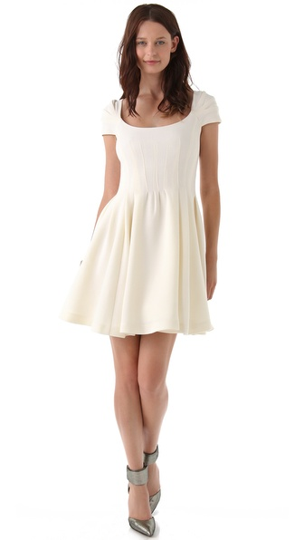 Zac Posen Wool Crepe Dress