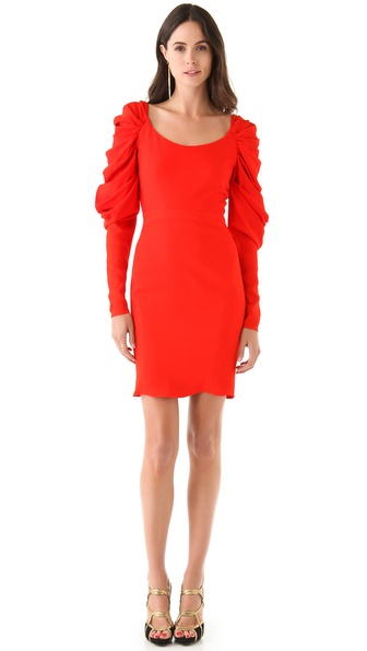 Zac Posen Gathered Sleeve Dress