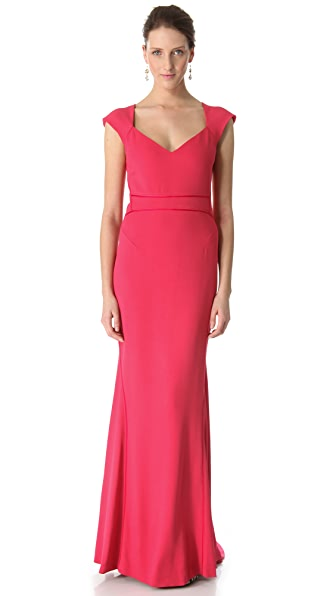 Zac Posen Stretch Crepe Gown