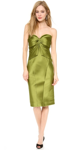 Zac Posen Strapless Cocktail Dress