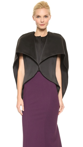 Zac Posen Stretch Duchesse Coat