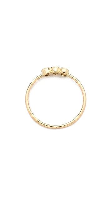 Zoe Chicco 3 个包镶戒指