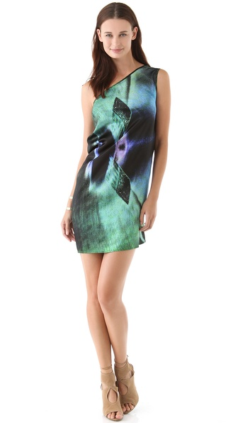 Zero + Maria Cornejo Print One Shoulder Dress