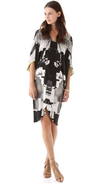 Zero + Maria Cornejo Graphic Printed Koya Dress