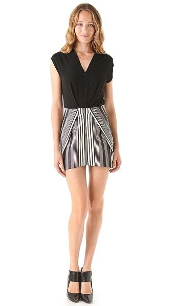 Zero + Maria Cornejo Tate Stripe Mini Dress