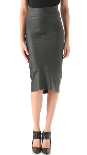 Zero + Maria Cornejo Stretch Leather Isis Skirt