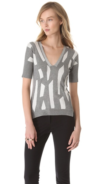 Zero + Maria Cornejo Ila V Neck Sweater