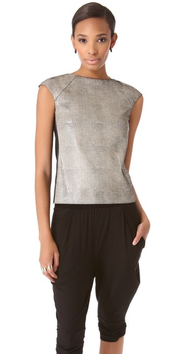 Zero + Maria Cornejo Leather Neka Top at Shopbop / East Dane