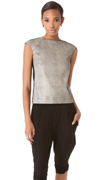 Zero + Maria Cornejo Leather Neka Top