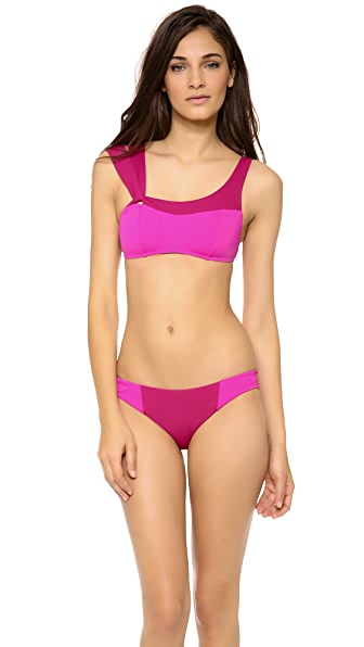 Zero + Maria Cornejo Pia Colorblock Swim Top
