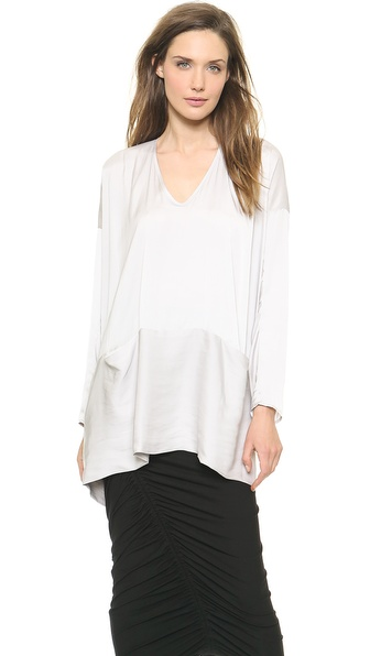 Zero + Maria Cornejo Drift Long Sleeve Tasi Top