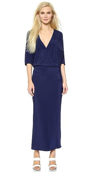 Kupi Zero + Maria Cornejo haljinu online i raspordaja za kupiti Zero + Maria Cornejo Long Bomber Manta Dress Midnight online