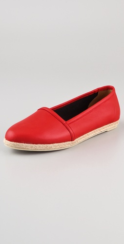 Zespa Leather Flat Espadrilles
