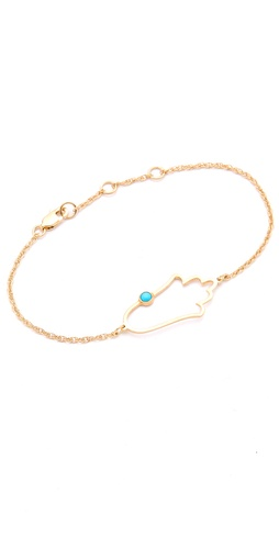 Shop Jennifer Zeuner Jewelry Open Hamsa Bracelet with Turquoise and Jennifer Zeuner Jewelry online - Accessories,Womens,Jewelry,Bracelet, online Store