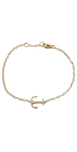 Shop Jennifer Zeuner Jewelry Mini Anchor Charm Bracelet and Jennifer Zeuner Jewelry online - Accessories,Womens,Jewelry,Bracelet, online Store