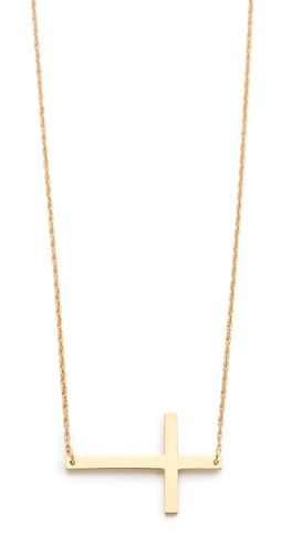 Shop Jennifer Zeuner Jewelry Horizontal Cross Necklace and Jennifer Zeuner Jewelry online - Accessories,Womens,Jewelry,Necklace, online Store
