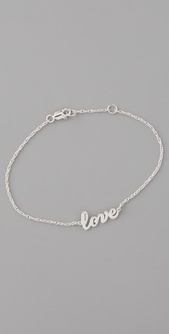 Jennifer Zeuner Jewelry Cursive LOVE Bracelet