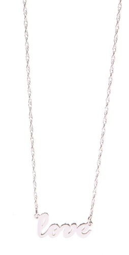 Shop Jennifer Zeuner Jewelry Cursive LOVE Necklace and Jennifer Zeuner Jewelry online - Accessories,Womens,Jewelry,Necklace, online Store