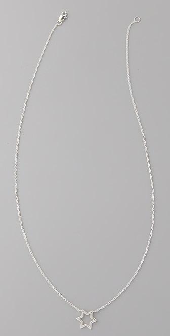 Jennifer Zeuner Jewelry Open Star of David Necklace