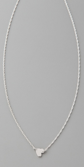 Jennifer Zeuner Jewelry Small Horizontal Heart Necklace
