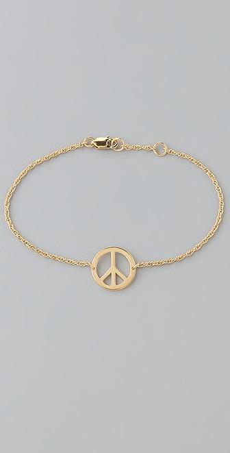 Jennifer Zeuner Jewelry Mini Peace Sign Bracelet